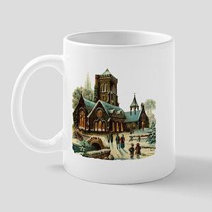 Christmas Night - Victorian Church Scene Mug