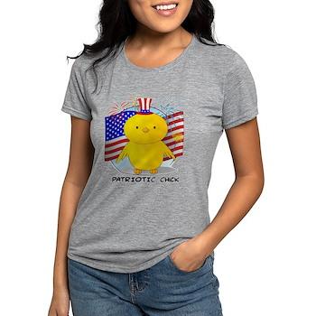 Patriotic Chick Womens Tri-blend T-Shirt