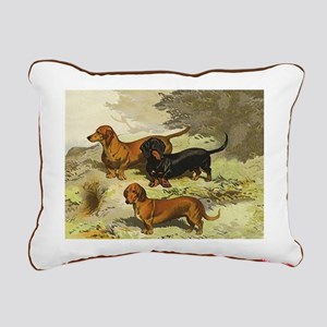 Dachshund Rectangular Canvas Pillow