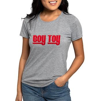 Boy Toy - Red Womens Tri-blend T-Shirt