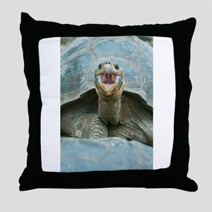 Laughing Turtle Throw Pillow