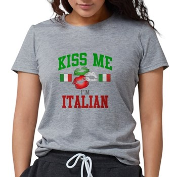 Kiss Me I'm Italian Womens Tri-blend T-Shirt