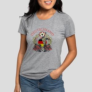 Deutschland Soccer Womens Tri-blend T-Shirt