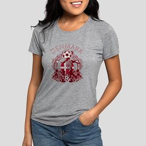 Denmark Soccer Womens Tri-blend T-Shirt