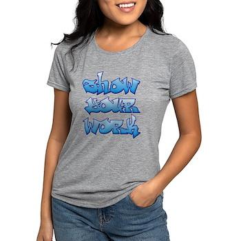 Show Your Work Graffiti Womens Tri-blend T-Shirt