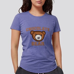 Chocolate Bear Womens Tri-blend T-Shirt