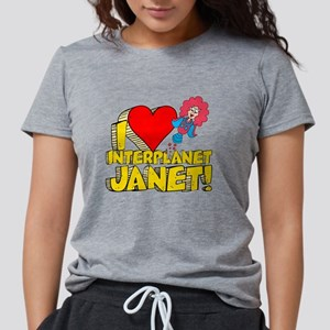 I Heart Interplanet Janet! Womens Tri-blend T-Shir