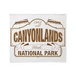 Canyonlands National Park Throw Blanket