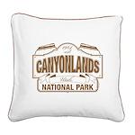 Canyonlands National Park Square Canvas Pillow