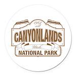 Canyonlands National Park Round Car Magnet