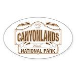 Canyonlands National Park Sticker (Oval)