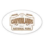 Canyonlands National Park Sticker (Oval 10 pk)