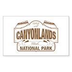 Canyonlands National Park Sticker (Rectangle 10 pk