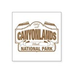 Canyonlands National Park Square Sticker 3