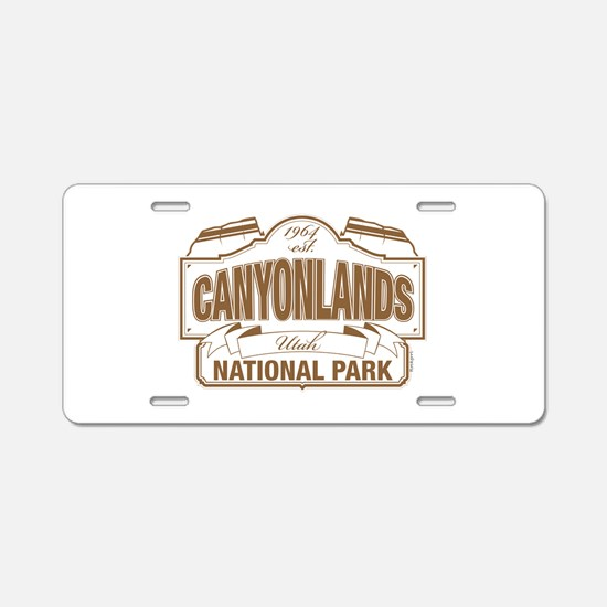 Canyonlands National Park Aluminum License Plate