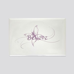 Believe Venture Butterfly Rectangle Magnet