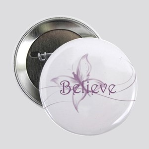"Believe Venture Butterfly 2.25"" Button"