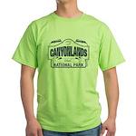 Canyonlands Blue Sign Green T-Shirt