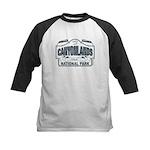 Canyonlands Blue Sign Kids Baseball Jersey