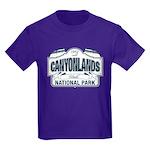 Canyonlands Blue Sign Kids Dark T-Shirt