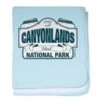 Canyonlands Blue Sign baby blanket