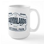 Canyonlands Blue Sign Large Mug