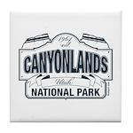Canyonlands Blue Sign Tile Coaster
