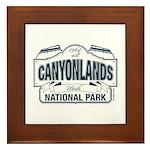 Canyonlands Blue Sign Framed Tile