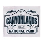 Canyonlands Blue Sign Throw Blanket