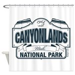 Canyonlands Blue Sign Shower Curtain