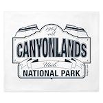 Canyonlands Blue Sign King Duvet