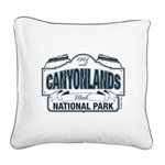 Canyonlands Blue Sign Square Canvas Pillow