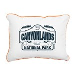 Canyonlands Blue Sign Rectangular Canvas Pillow