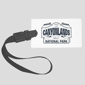 Canyonlands Blue Sign Large Luggage Tag