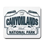 Canyonlands Blue Sign Mousepad