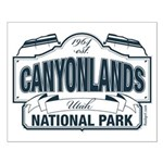 Canyonlands Blue Sign Small Poster
