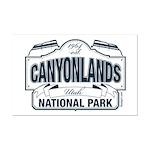Canyonlands Blue Sign Mini Poster Print