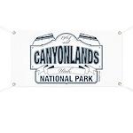 Canyonlands Blue Sign Banner