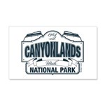 Canyonlands Blue Sign 20x12 Wall Decal