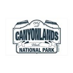 Canyonlands Blue Sign 35x21 Wall Decal
