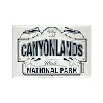 Canyonlands Blue Sign Rectangle Magnet (100 pack)
