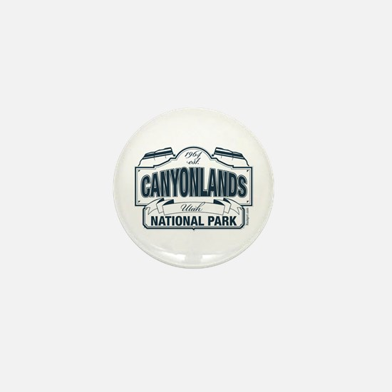Canyonlands Blue Sign Mini Button