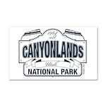Canyonlands Blue Sign Car Magnet 20 x 12