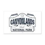 Canyonlands Blue Sign Rectangle Car Magnet