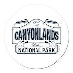Canyonlands Blue Sign Round Car Magnet