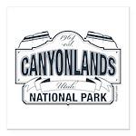 Canyonlands Blue Sign Square Car Magnet 3