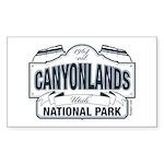 Canyonlands Blue Sign Sticker (Rectangle)