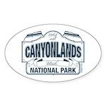 Canyonlands Blue Sign Sticker (Oval)