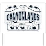 Canyonlands Blue Sign Yard Sign