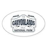 Canyonlands Blue Sign Sticker (Oval 10 pk)